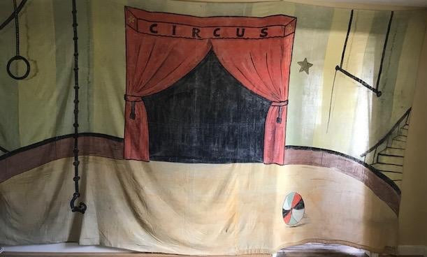 Painted Cloth Circus Banner