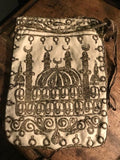 Silver embroidered bag