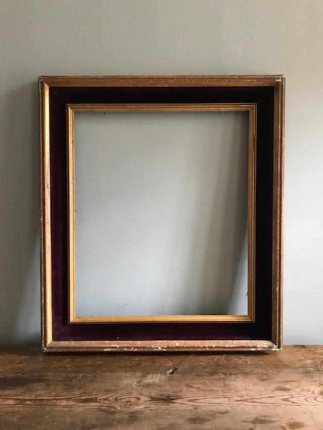 c19th Gilt & Velvet Frame