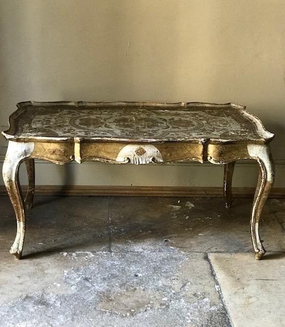 Italian Coffee table 1940's Papier Mache