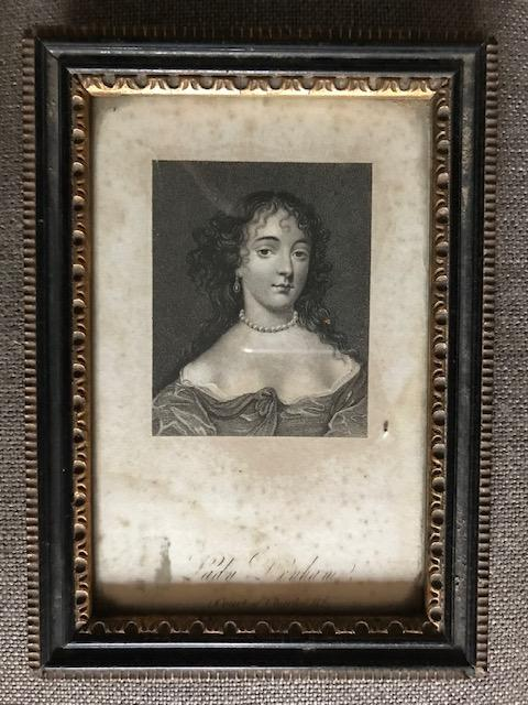 c18th Engraving of lady Denham