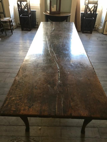 c18th English estate made Elm refrectory table