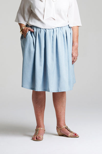 April Skirt Light Denim