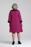 Inez - Senior Womens Functional Dress Magenta