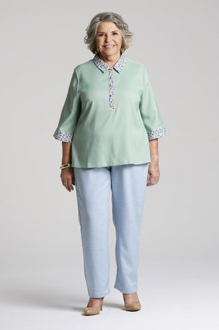 Anna Pants Pale Blue