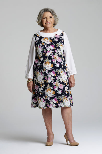 Rose - Comfortable Floral Dress for Senior Women