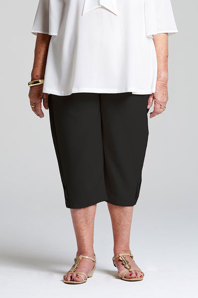 Sarah - Black Elastic Waist Pants for Elderly