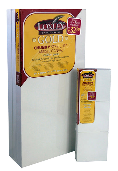 CARTONS - LOXLEY GOLD CHUNKY STRETCHED CANVAS