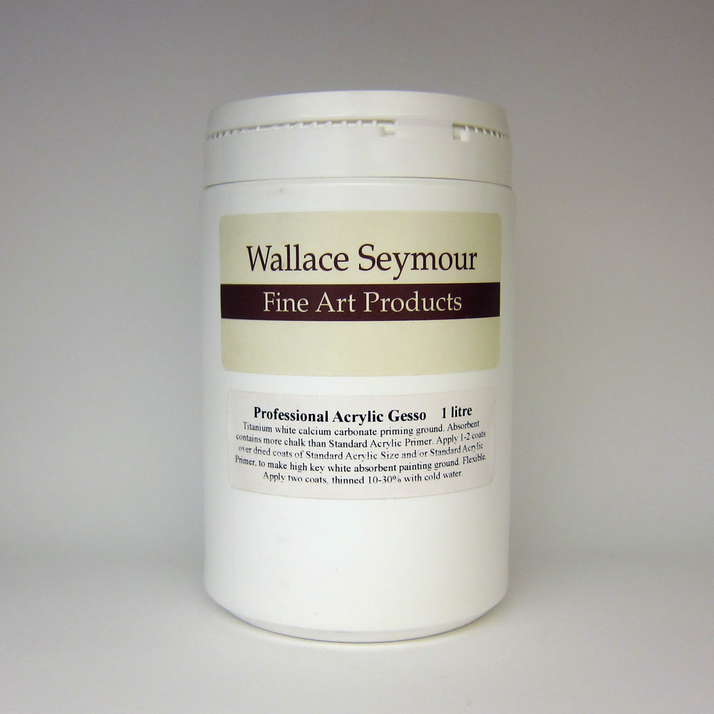 Wallace Seymour : Professional Acrylic Gesso 1 Litre