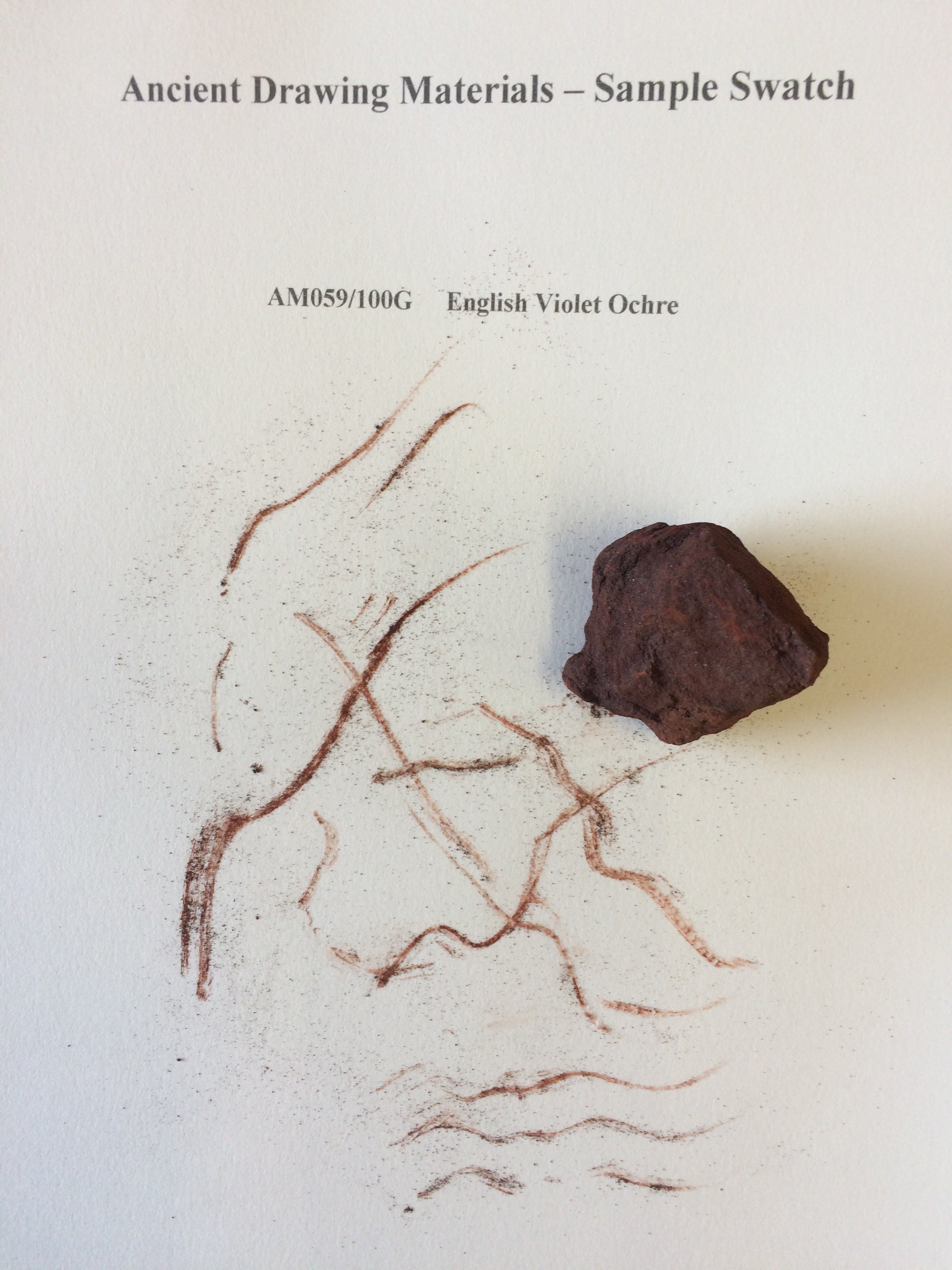 English Voilet Ochre Drawing Stone