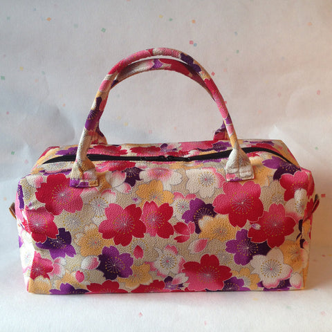 Boston Handbag (Sakura Red & Purple)