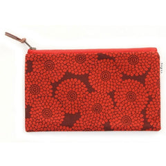 Flat Pouch (Red Chrysanthemum)