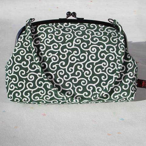 Gamaguchi Handbag (Arabesque Green)