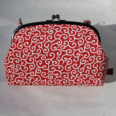 Gamaguchi Handbag (Arabesque Red)