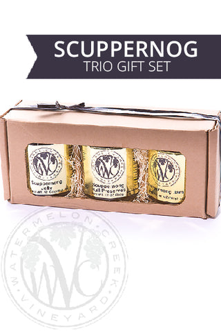 Scuppernong Jelly, Jam, Preserve Trio Gift Box