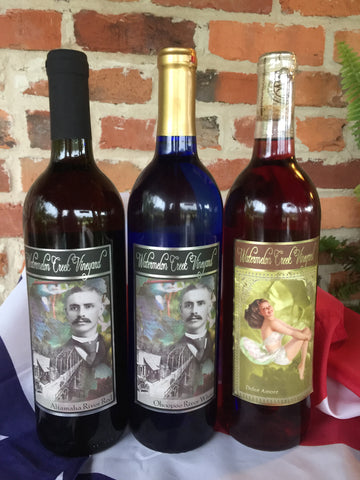 Sweet Wine Trio: RED, WHITE, AND BLUE