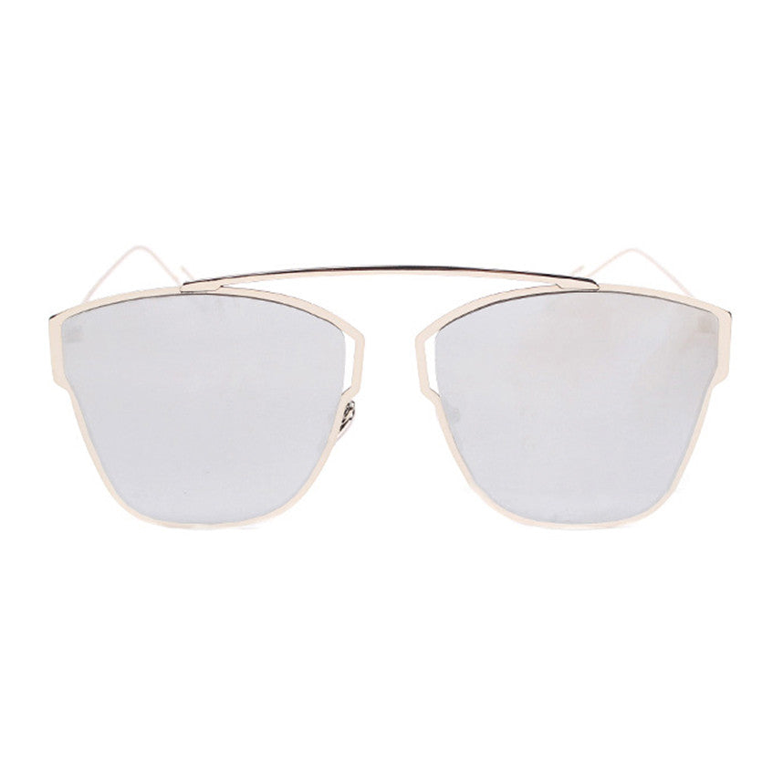 Venus Sunglasses - Silver Frame with Silver Lens