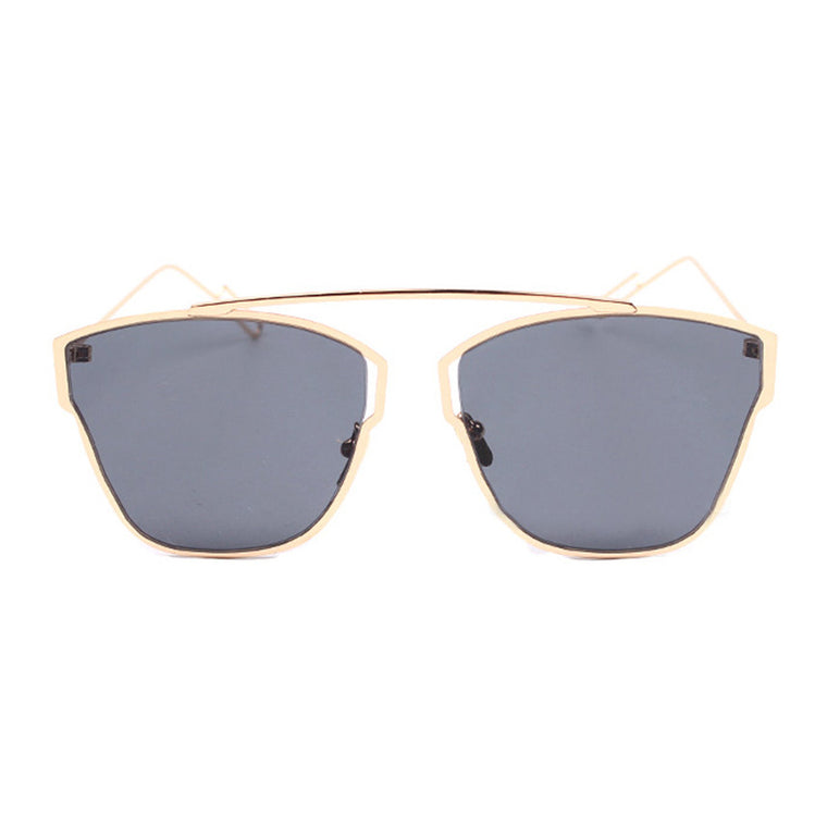 Venus Sunglasses - Gold Frame with Black Lens