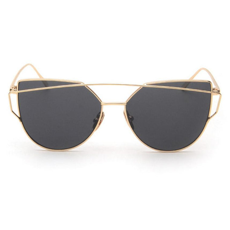 Ainsley Sunglasses - Gold Frame with Black Lens