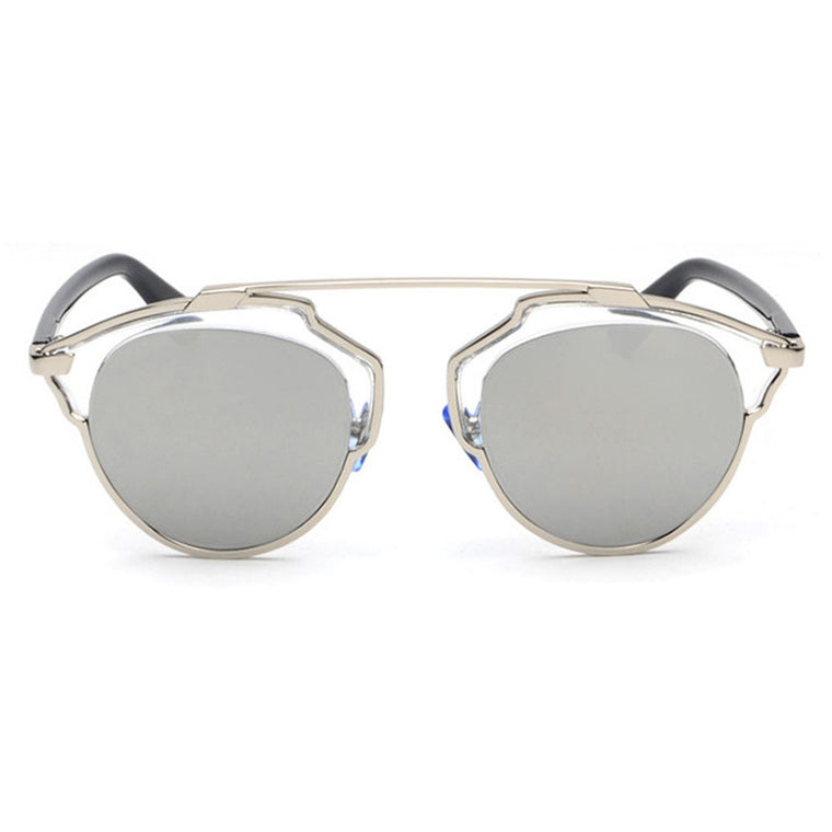 Beryl Sunglasses - Silver Frame with Silver Lens