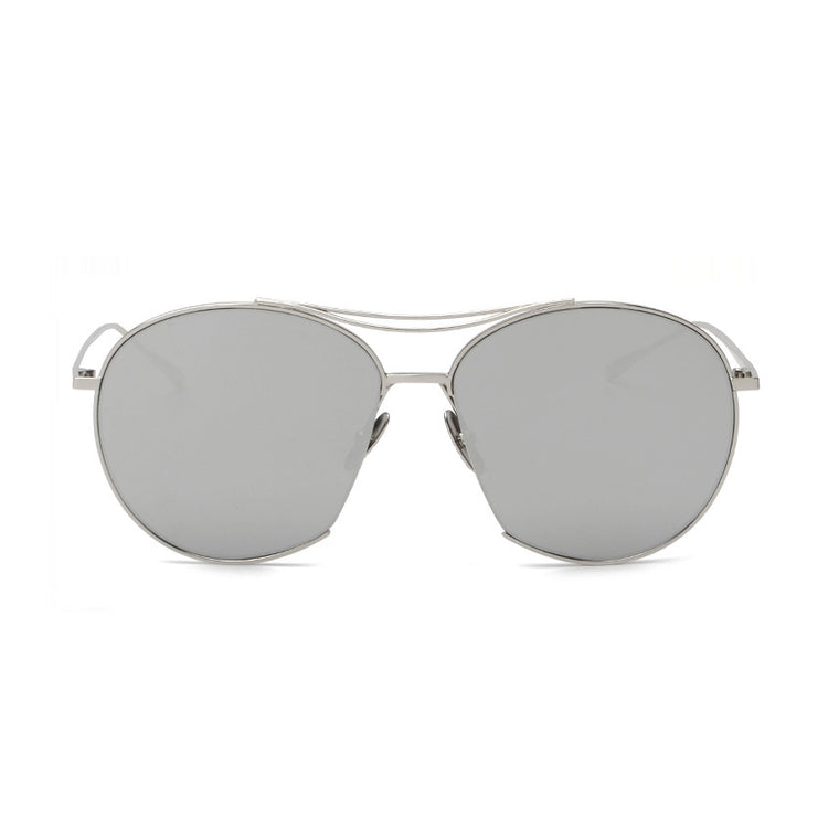 Berlin Sunglasses - Silver Frame with Silver Lens