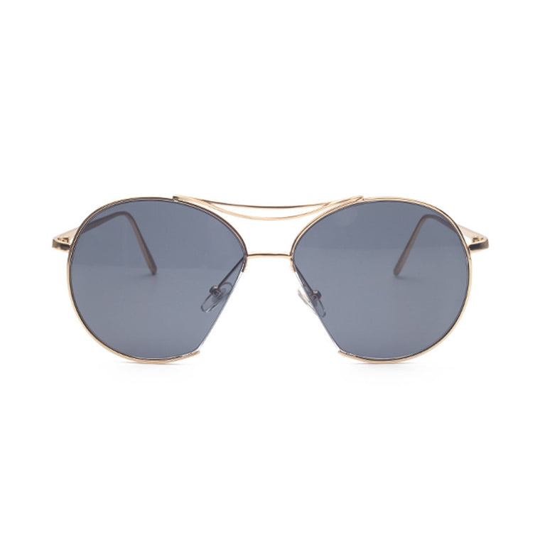Berlin Sunglasses - Gold Frame with Black Lens