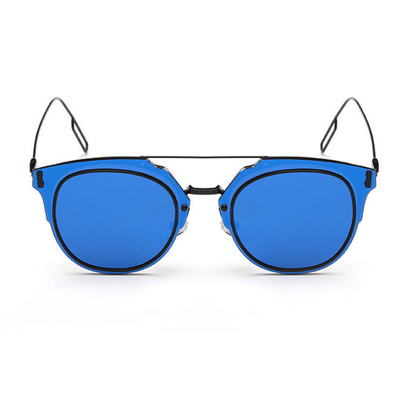 Pierre Sunglasses - Black Frame with Blue Lens