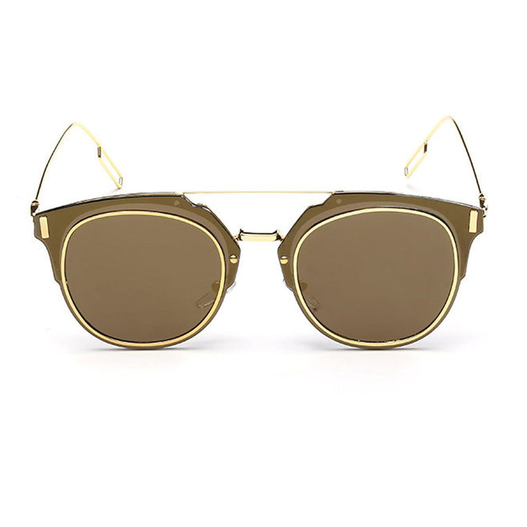 Pierre Sunglasses - Gold Frame with Gold Lens