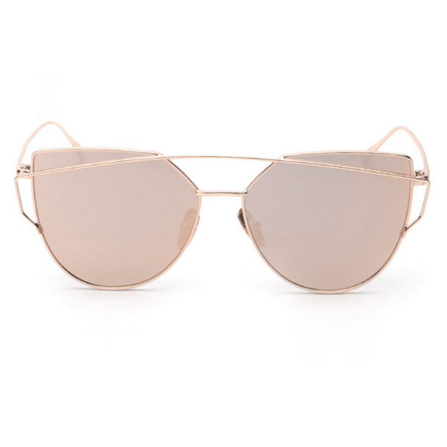 Ainsley Sunglasses - Gold Frame with Pink Lens
