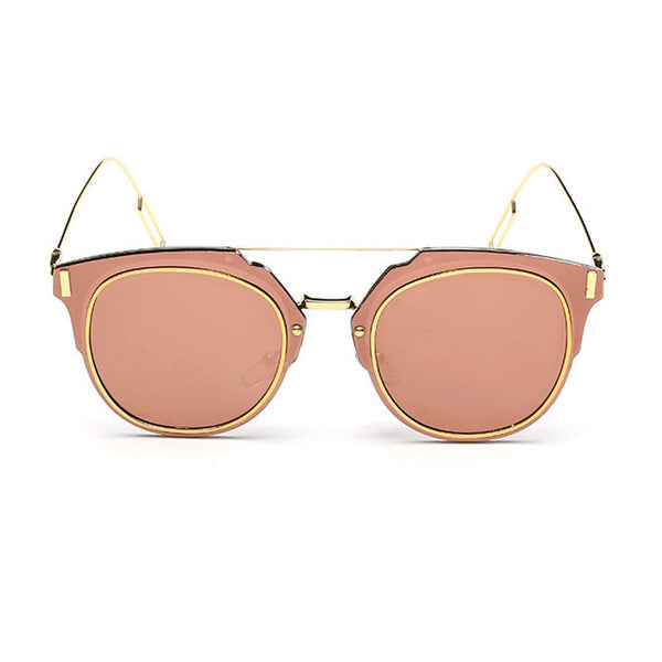 Pierre Sunglasses - Gold Frame with Pink Lens
