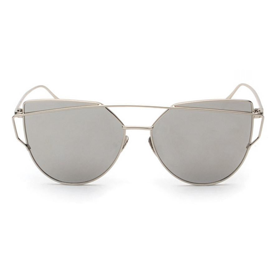 Ainsley Sunglasses - Silver Frame with Silver Lens