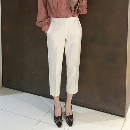 Beatrix Low Waist Tailored Pants - White