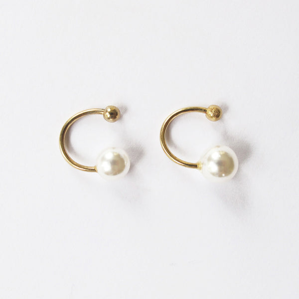 Mini Pearl Ear Cuff Set - Gold