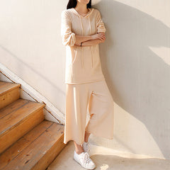 Page Relaxed Knitted Culottes - Beige