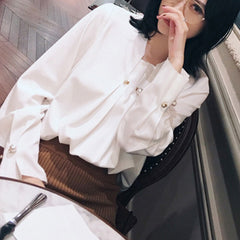 Pearly Long Sleeve Shirt - White
