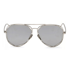 Lola Sunglasses - Silver Frame with Silver Lens