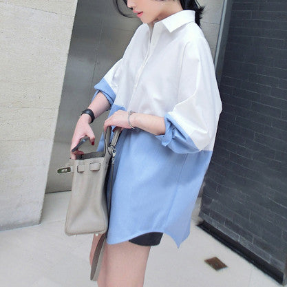 Zoe Two Tone Boyfriend Shirt