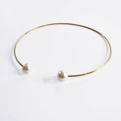 Double Small Pearl End Choker
