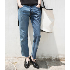Juna Color Blocked Cropped Jeans