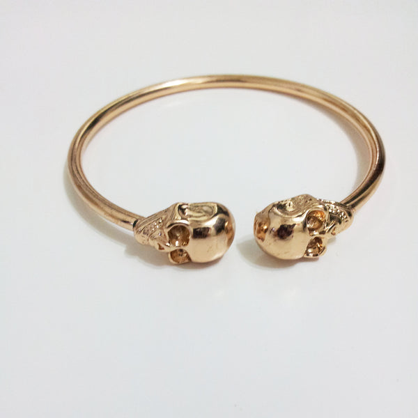 Twin Skul Bracelet-Gold