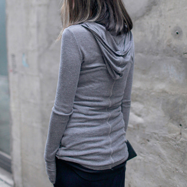 Ines Hooded Sweatshirt - Grey