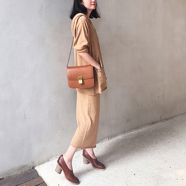 Page Relaxed Knitted Culottes - Brown