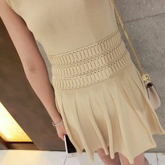 Petra Knitted Sleeveless Dress - Beige
