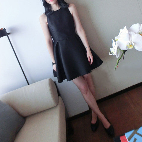 Anisa Flare Dress - Black