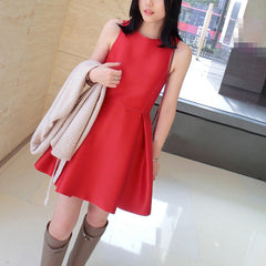 Anisa Flare Dress - Red