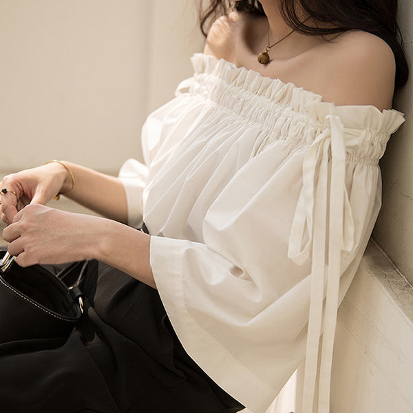 Cora Off Shoulder Top - White