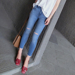 Beverly Ripped Jeans - Blue
