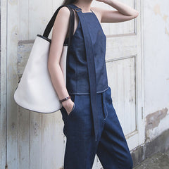 Freda Sleeveless Denim Top
