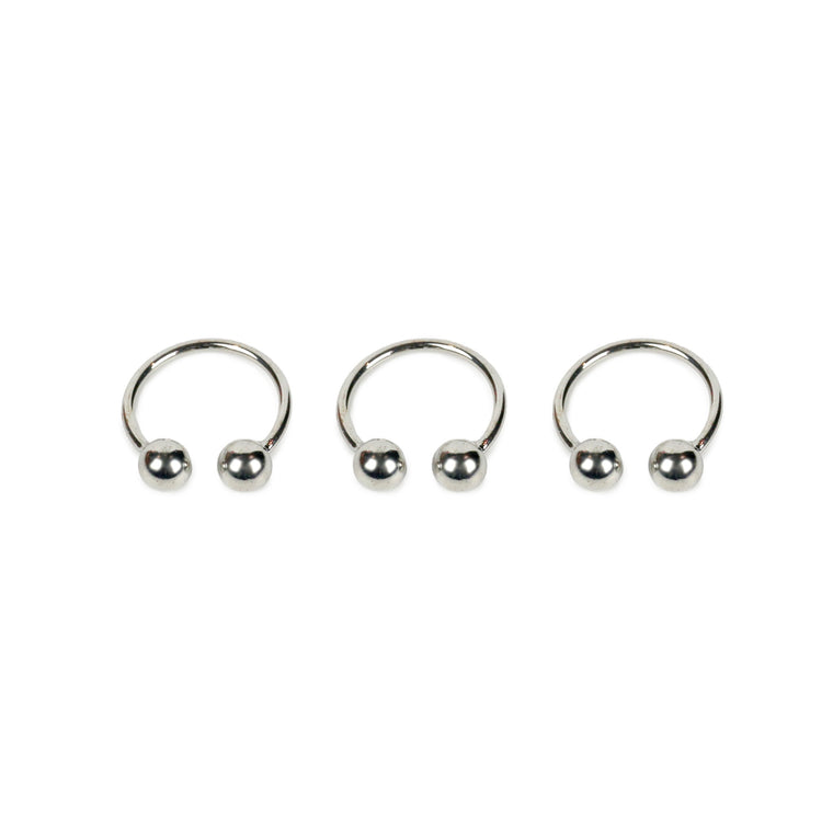 Double Ball Ring - Silver