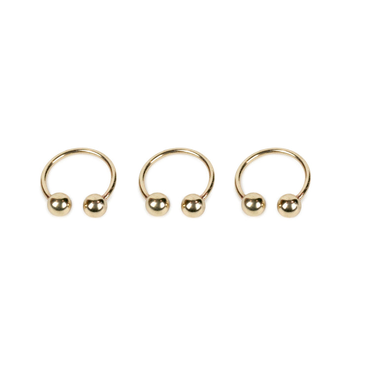 Double Ball Ring - Gold